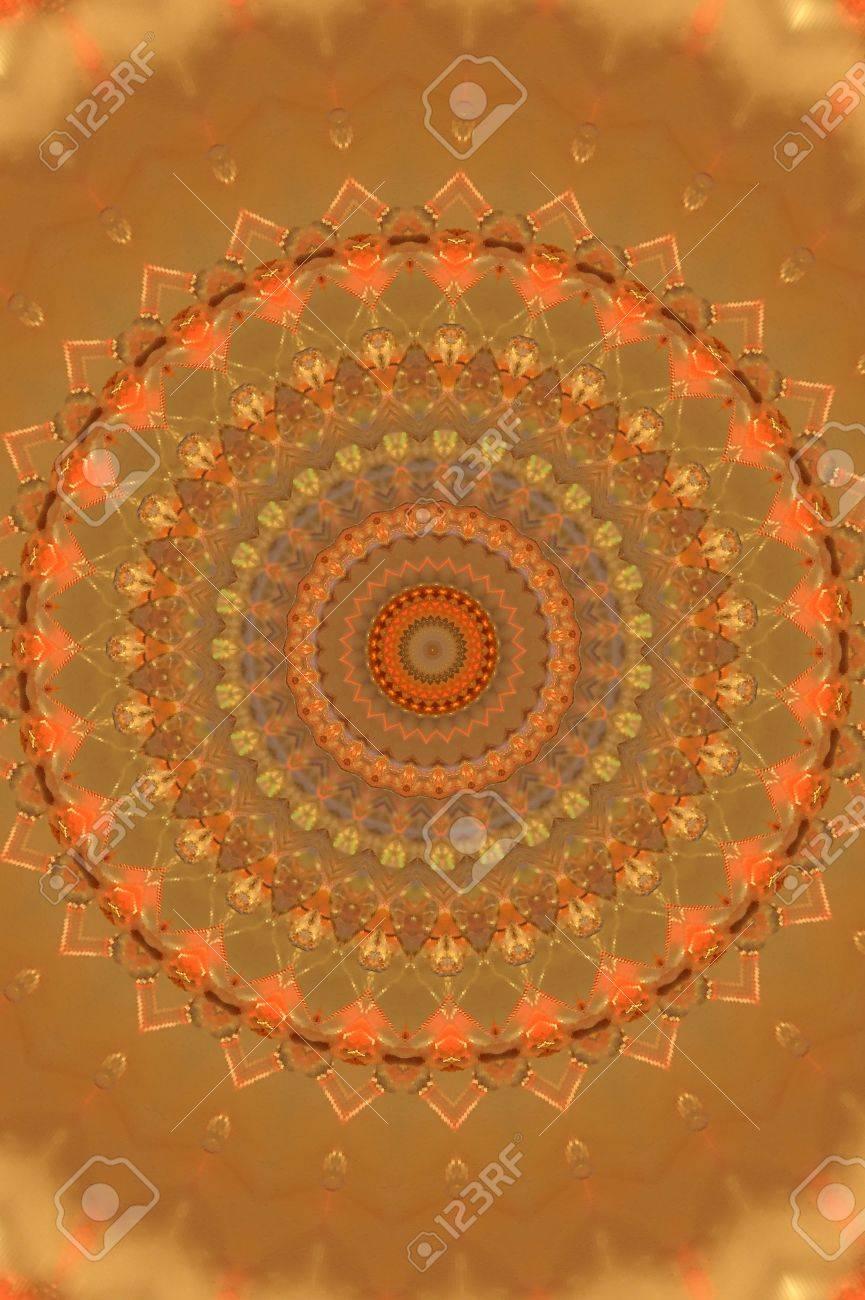 orange circular vintage ornament Stock Photo - 16443045