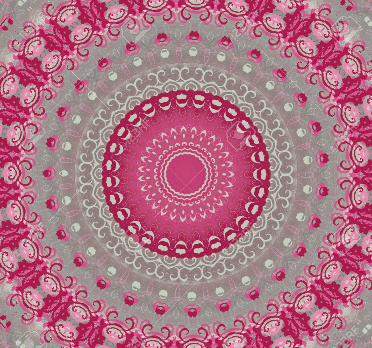 pink with gray circular pattern Stock Photo - 16408043