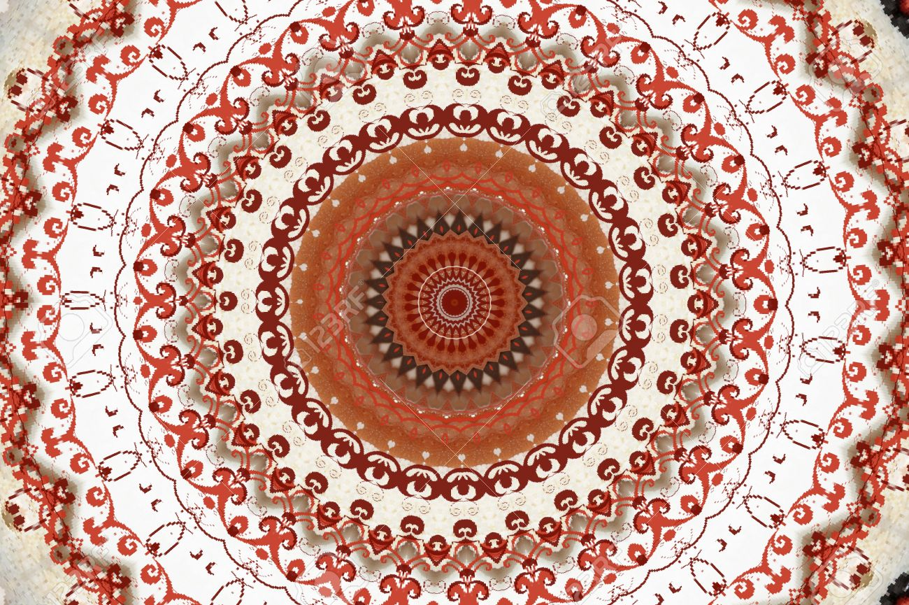 oriental ornament in warm colors Stock Photo - 16442897