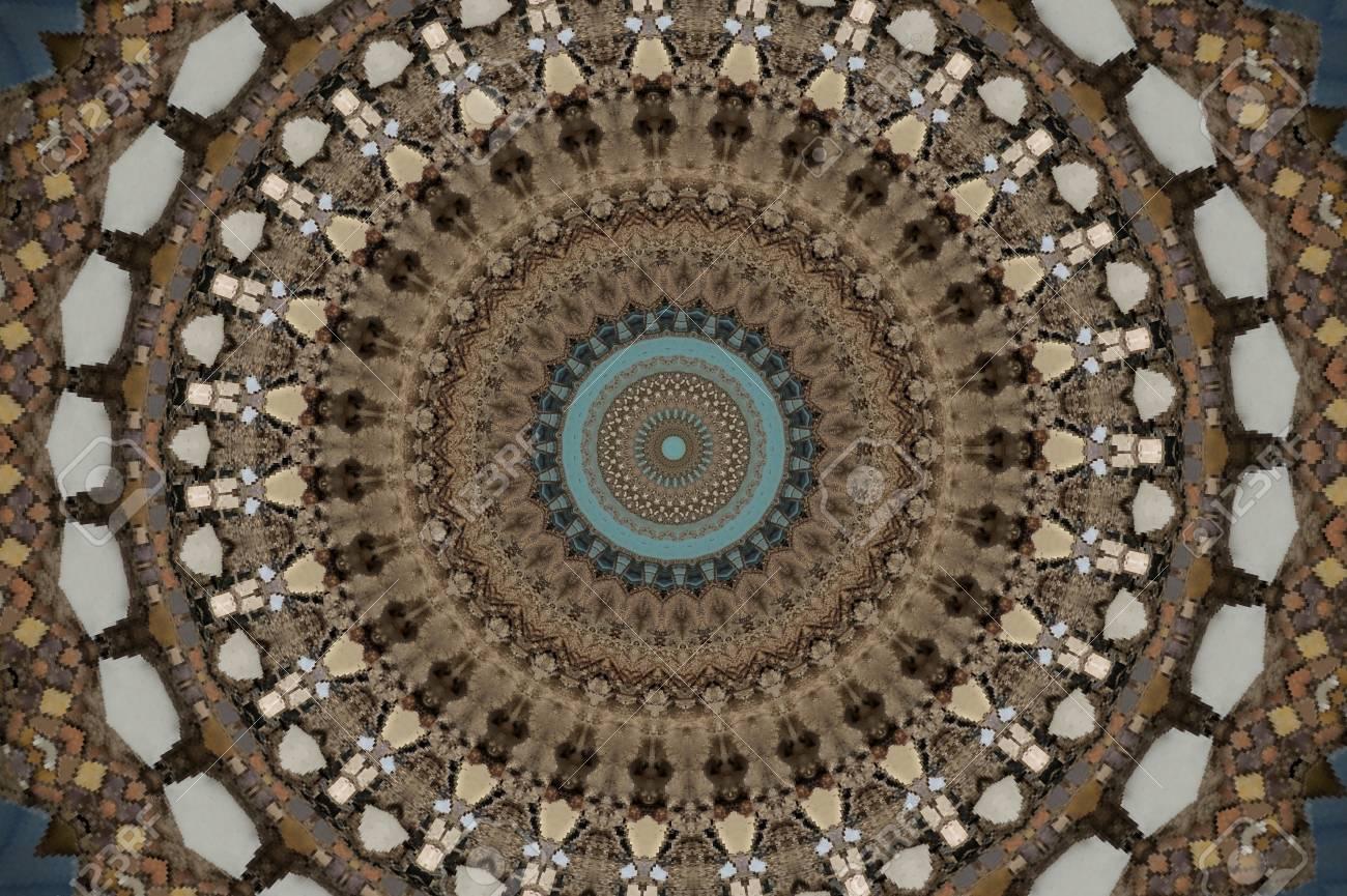 brown circular mosaic pattern Stock Photo - 16411644