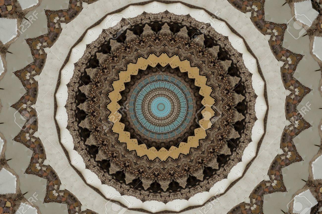brown circular mosaic pattern Stock Photo - 16411641