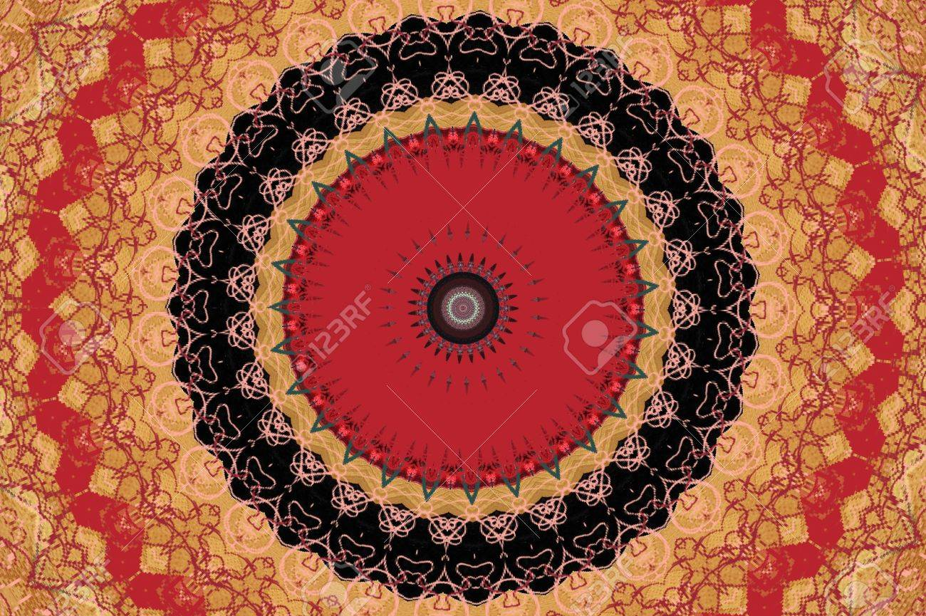 oriental ornament in warm colors Stock Photo - 16442898