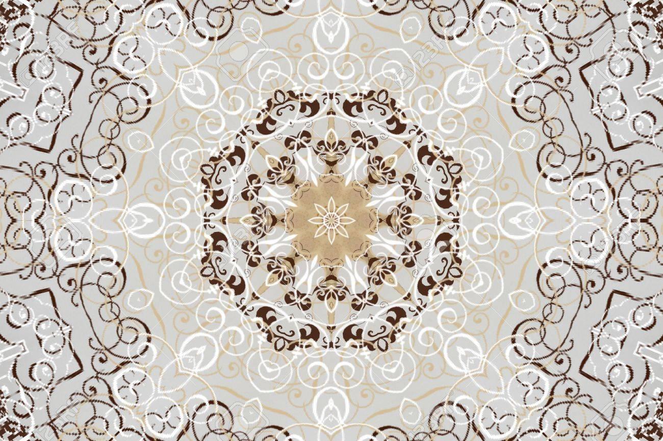 light beige brown ornament Stock Photo - 16861201