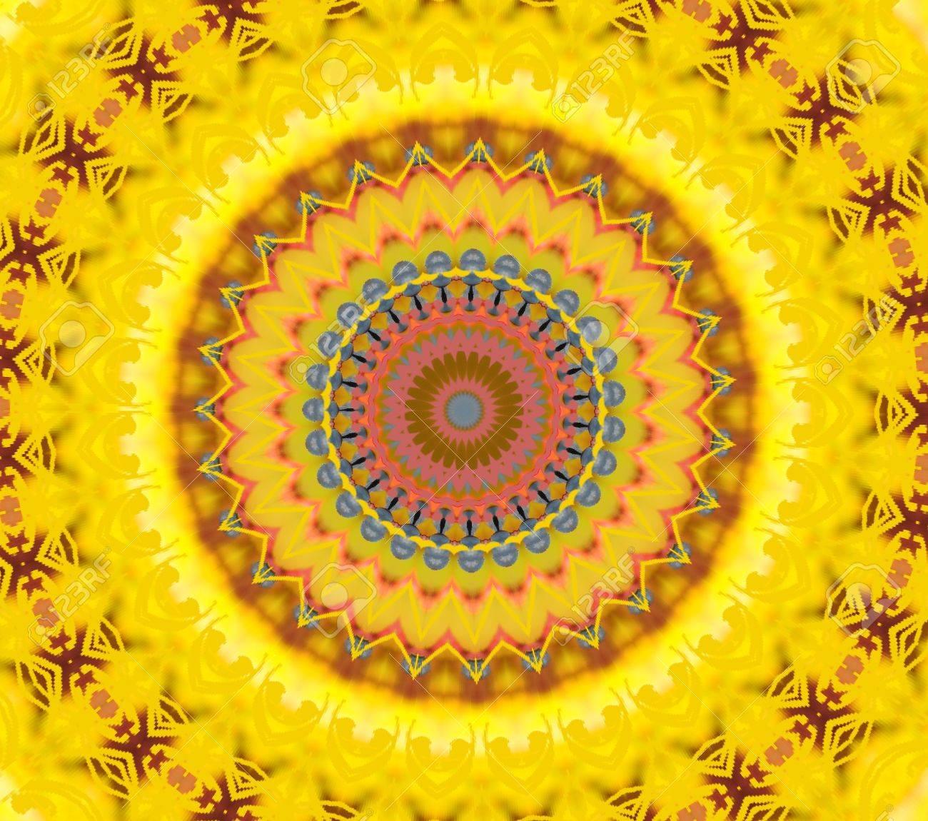 Ein Gelbes Muster Für Die Meditation Lizenzfreie Fotos, Bilder Und ...