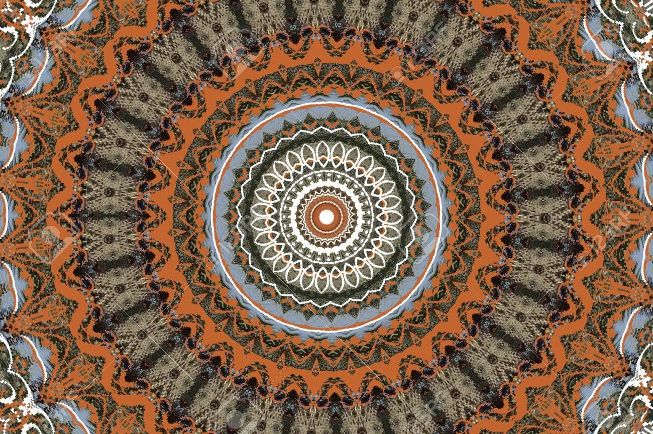 brown circular national pattern Stock Photo - 17107574