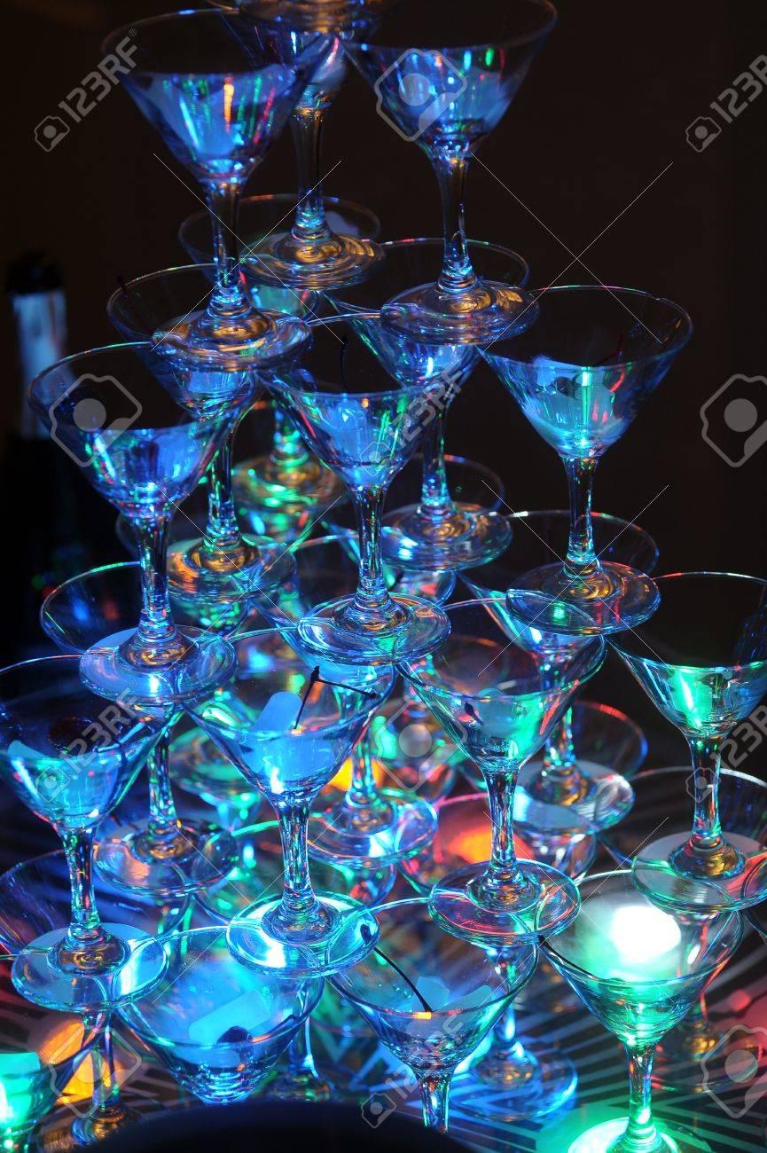 glasses pyramid Stock Photo - 17084962