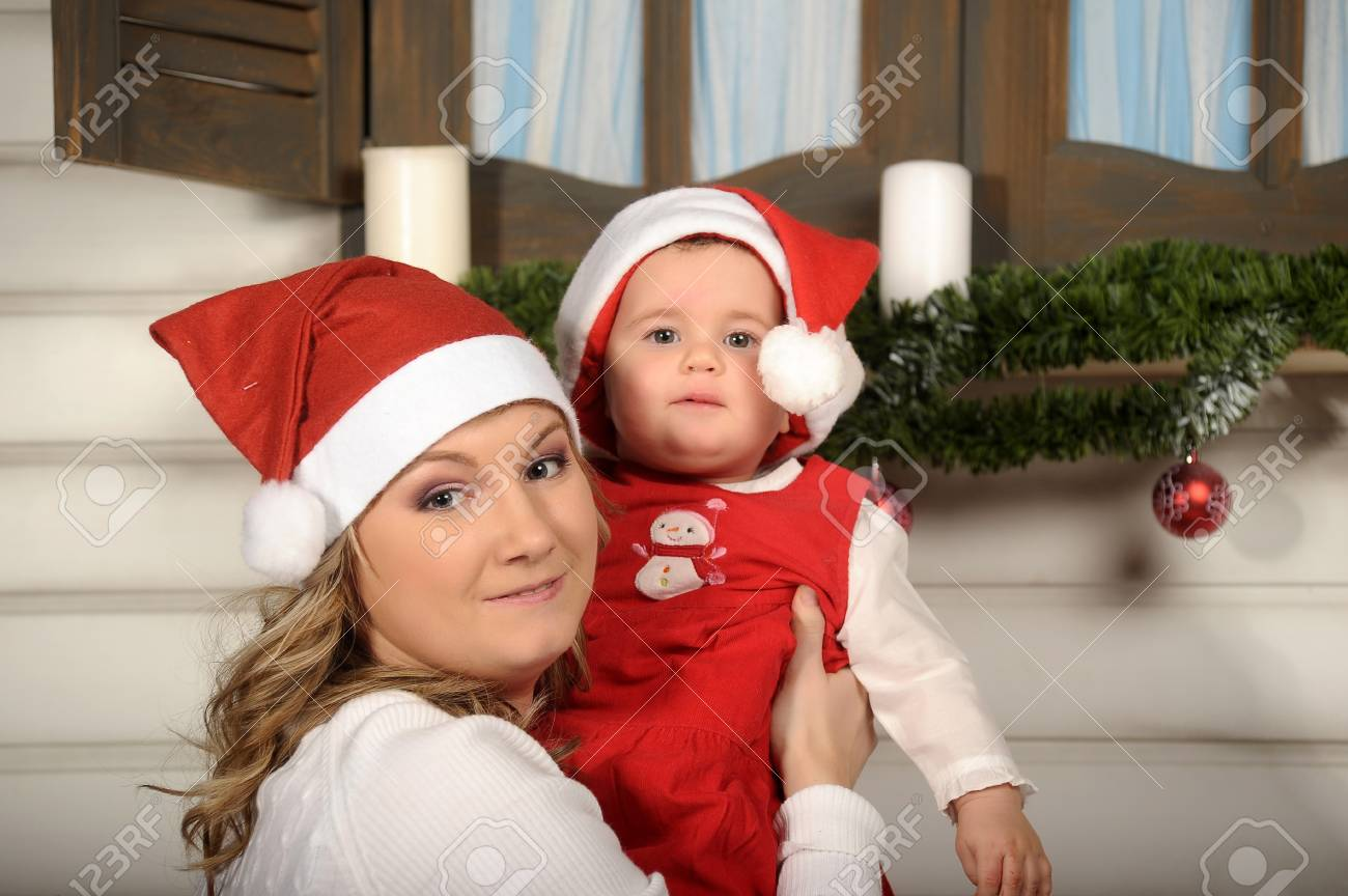 First Christmas for baby Stock Photo - 17260688