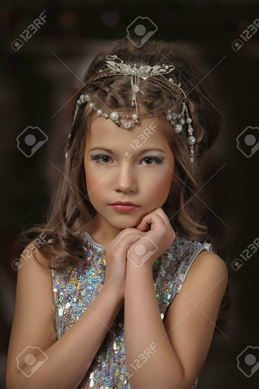 silver girl Stock Photo - 17532628