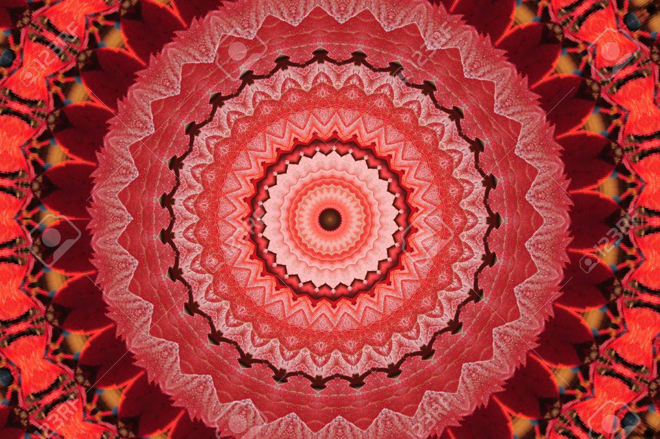 red circular pattern mandala Stock Photo - 17975806