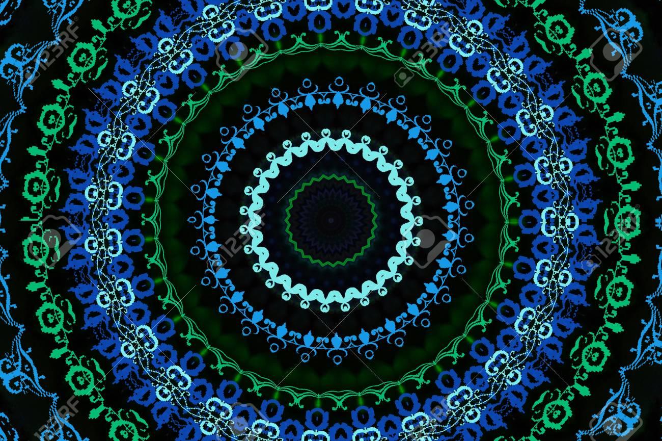 circular blue oriental ornament Stock Photo - 18992976