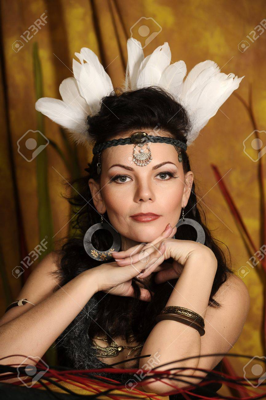 woman in a suit of the American Indian Stock Photo - 18993371