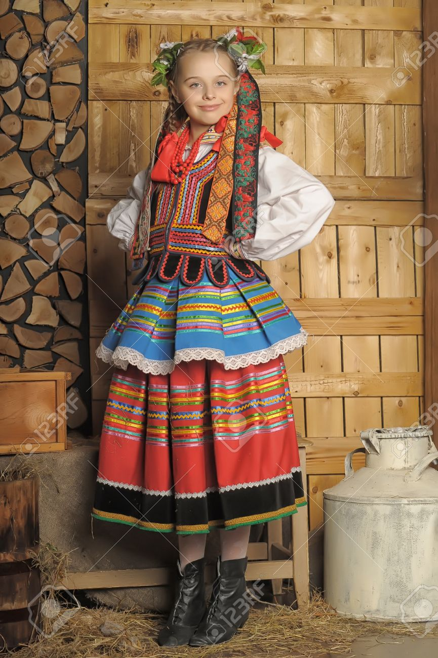 polish in national costume krakow stock photo picture and