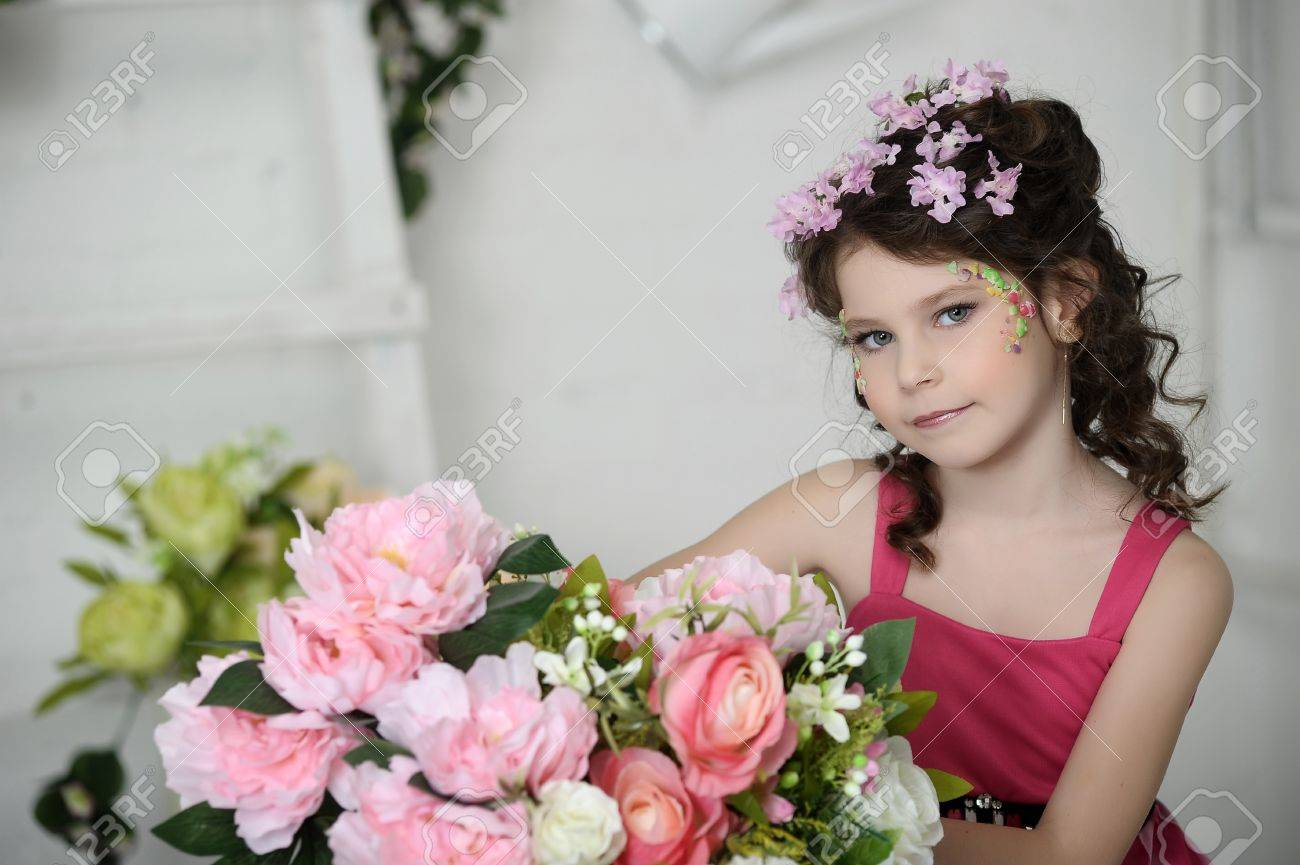 girl in flowers Stock Photo - 19397311
