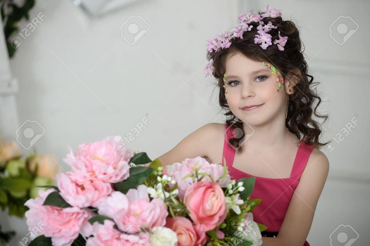 girl in flowers Stock Photo - 19397314