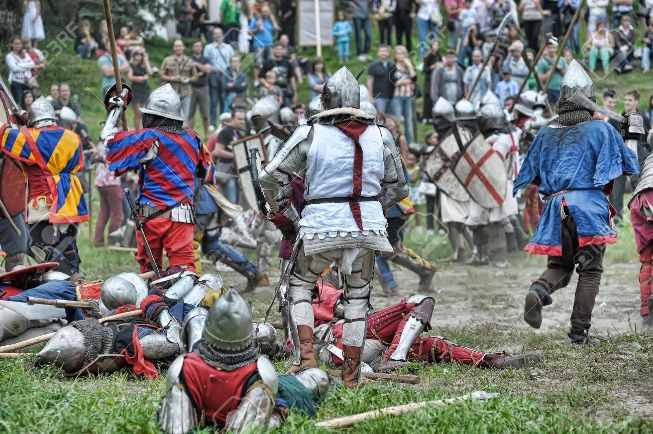 Festival of Medieval Culture Vyborg Thunder, Russia, Vyborg, August 17, 2013 Stock Photo - 23817313