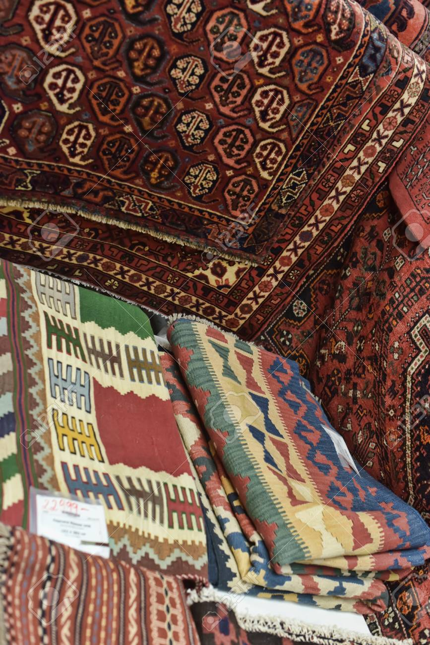 Carpets In The Store Ikea St Petersburg Russia Stock Photo