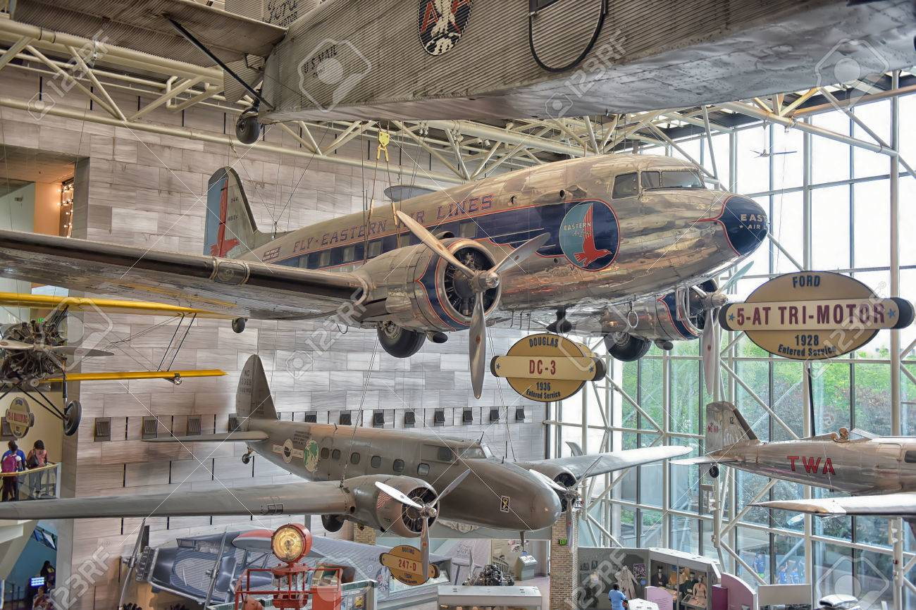 The Interior Of The National Air Space Museum In Washington