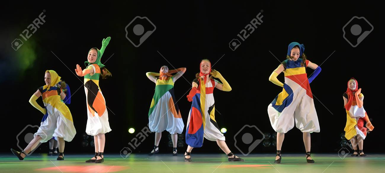 Girls In Costume Dolls Dancing On Stage Stock Photo Picture And Royalty Free Image Image 68011361