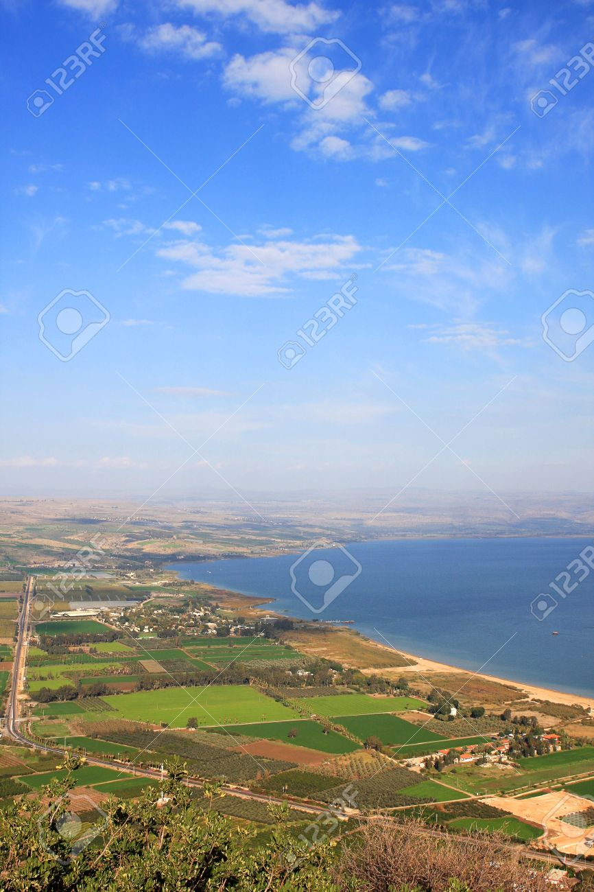 View of the sea of Galilee (Kineret lake) from Arbel mountain, Israel Stock Photo - 8699475