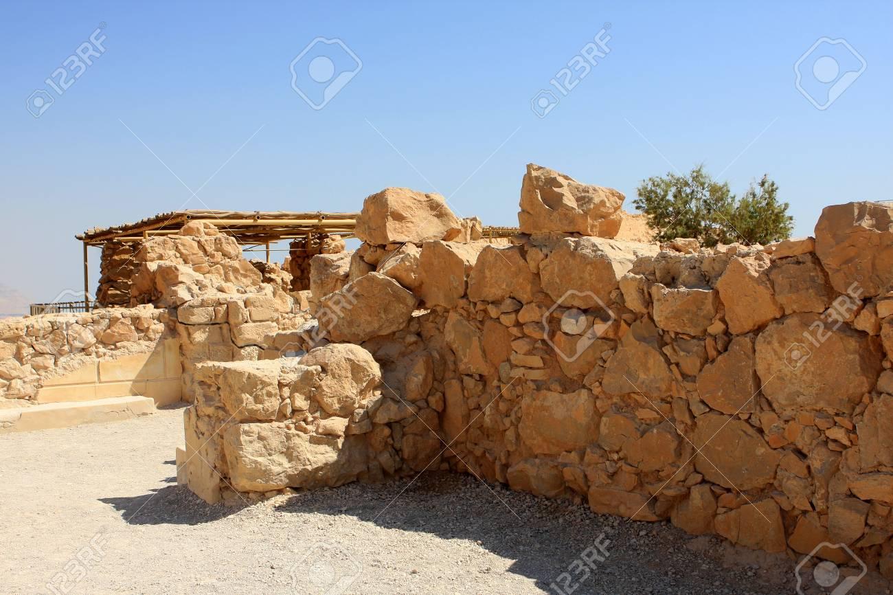 Ruins of ancient Masada fortress in Israel Stock Photo - 15744741