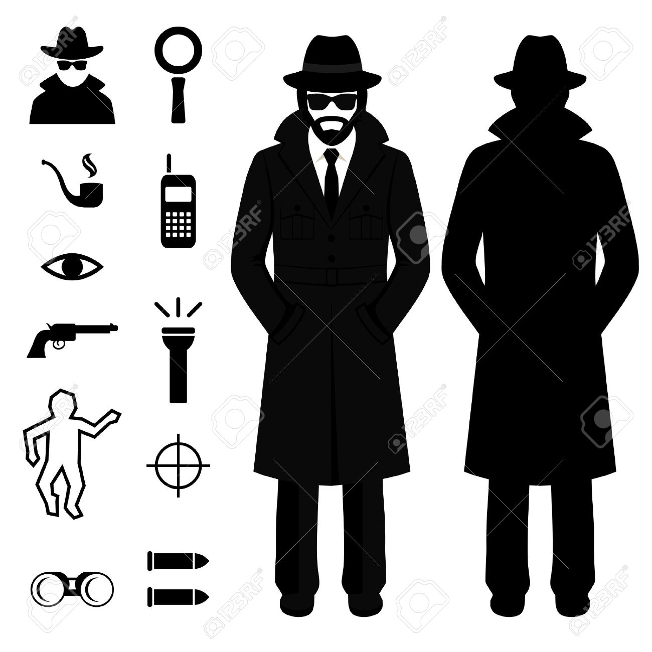 Spying Clipart