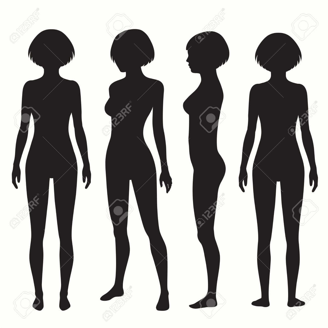 Human body anatomy front back side view vector woman human body anatomy front back side view vector woman illustration stock vector ccuart Images