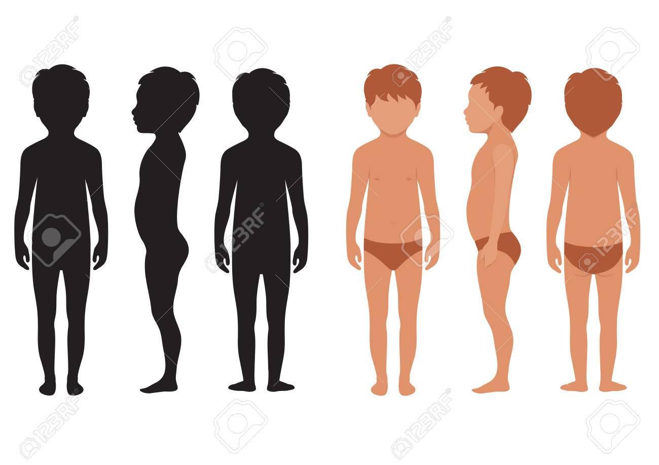 Vektor Kind Körper, Anatomie Des Menschen, Kid Vektor-Illustration ...