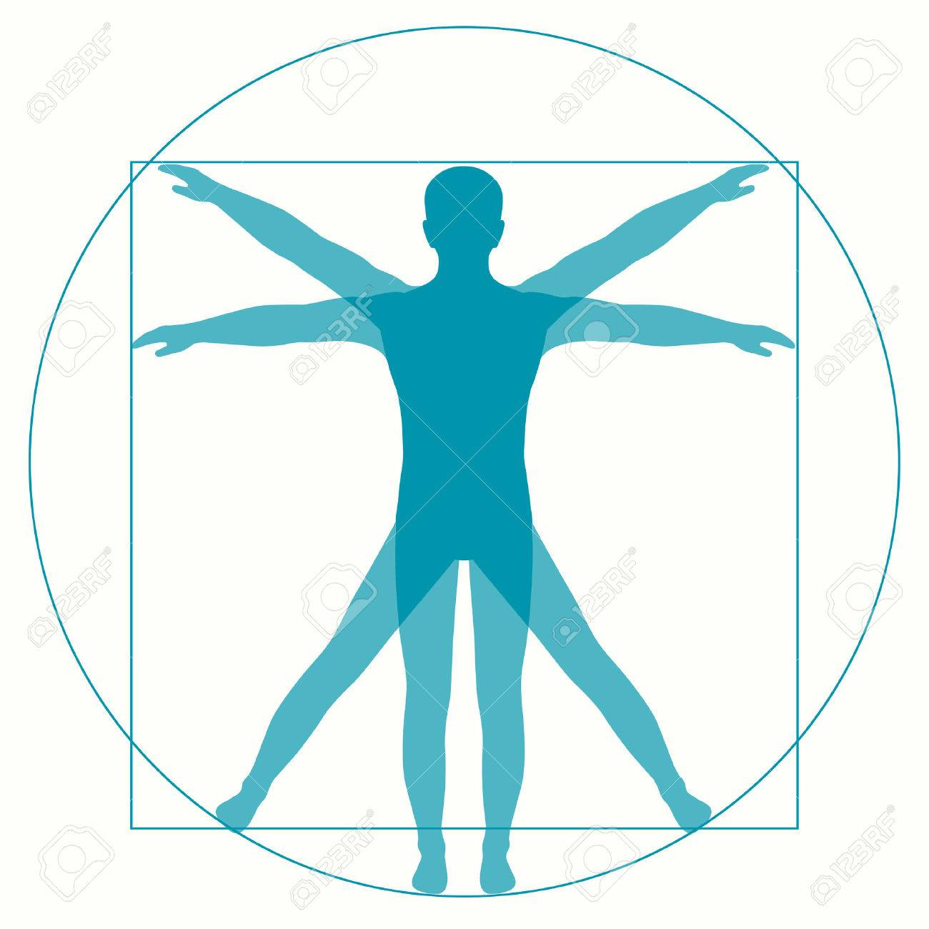 vetruvian 男 leonardo ダ ・ ヴィンチ人体解剖学 ロイヤリティフリー