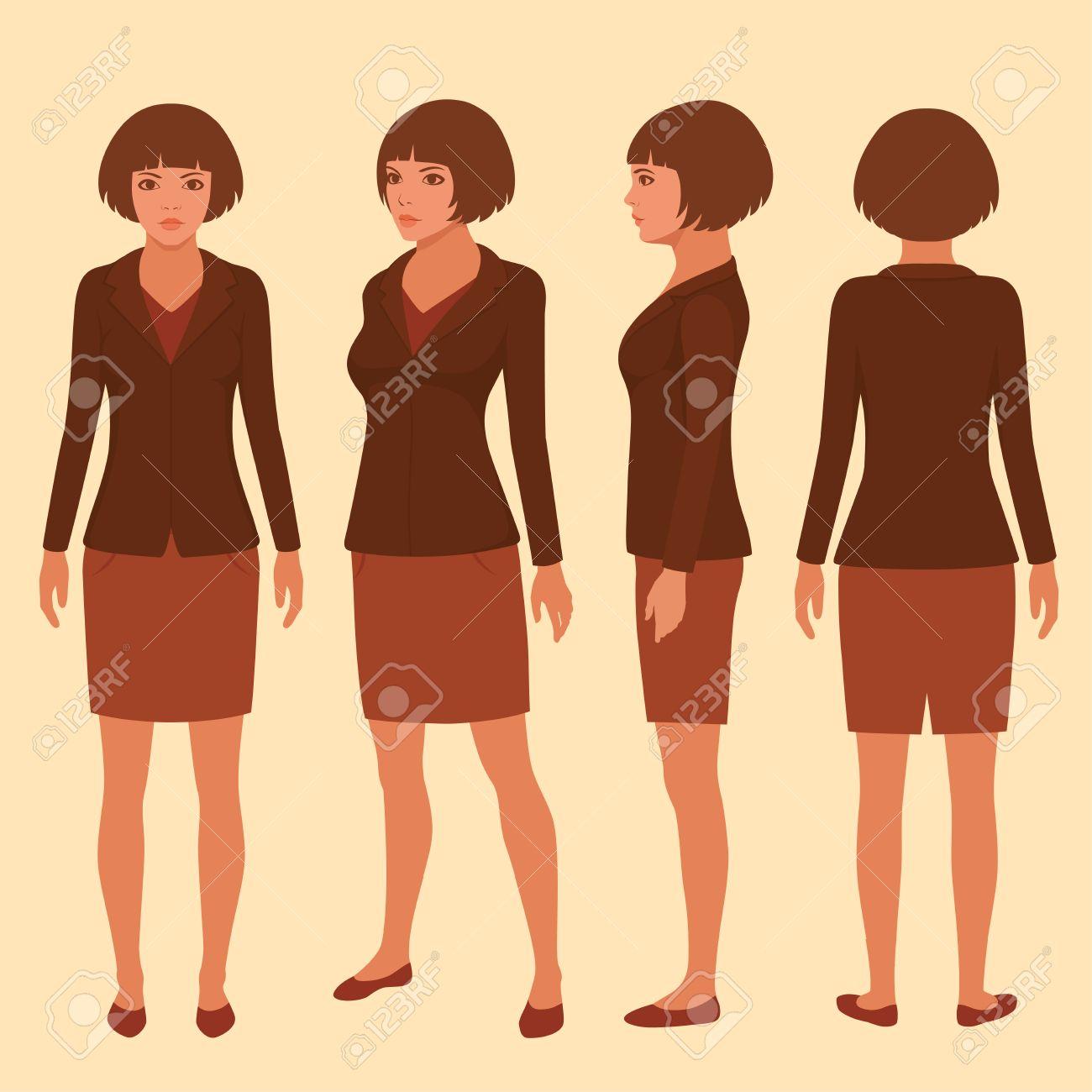 Vector - Vector woman cartoon character cfa33fb861f7