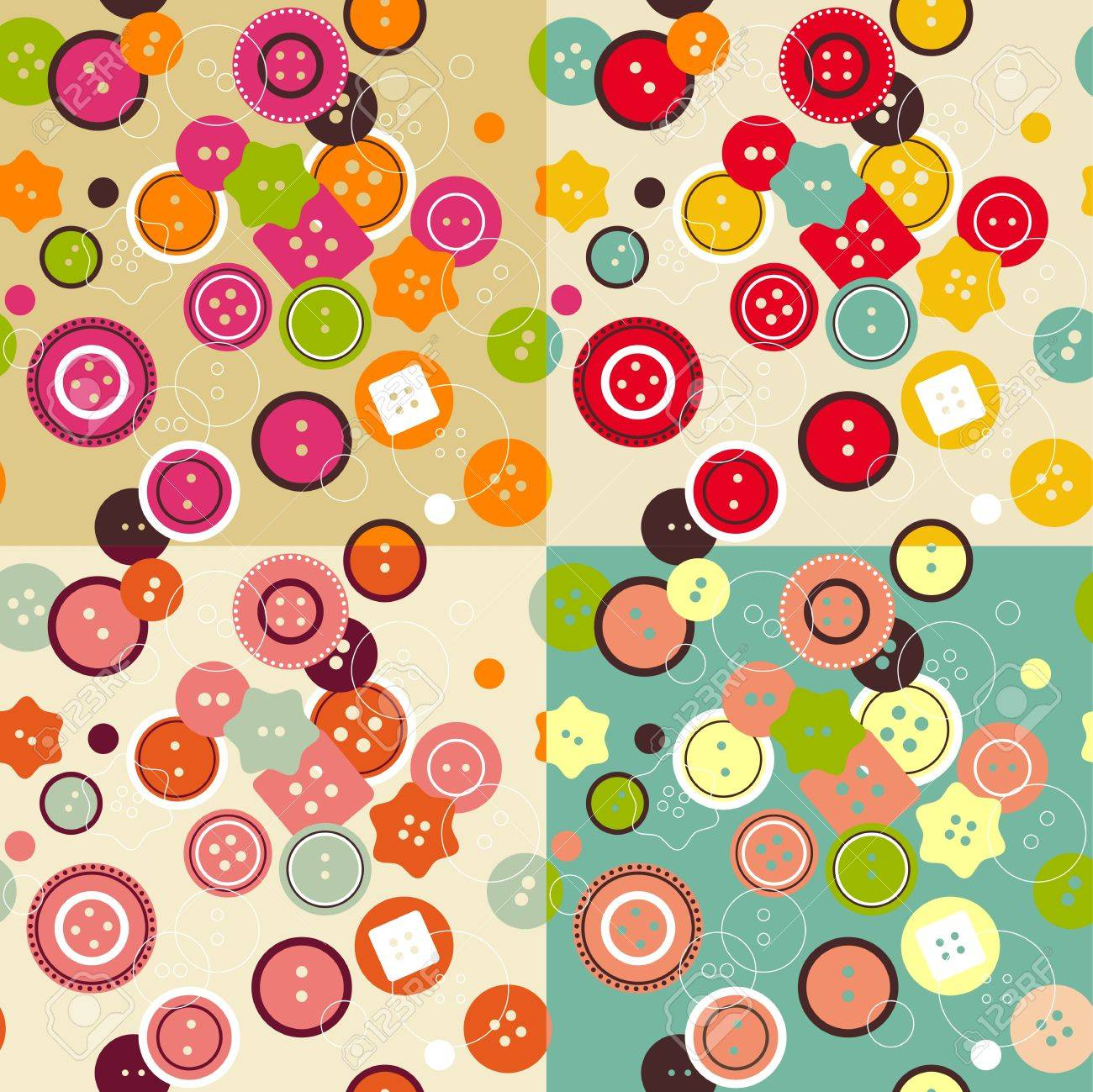 Buttons seamless pattern Stock Vector - 20170186