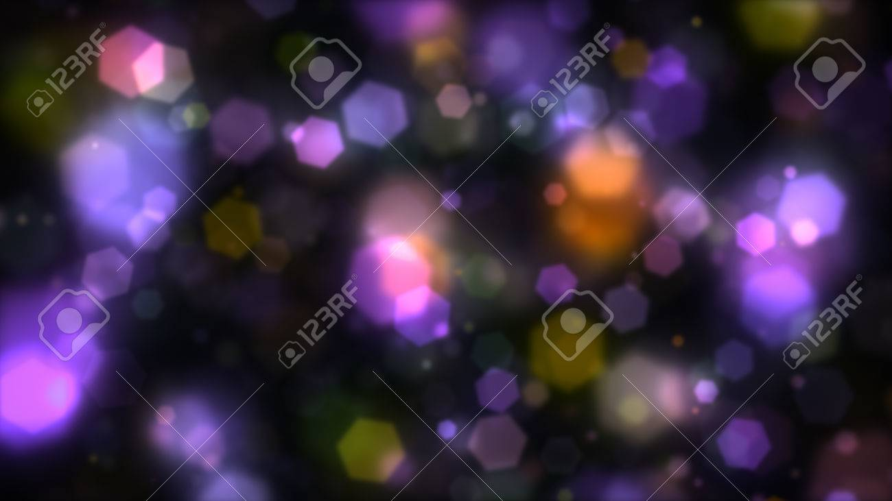 Abstract Background Colorful Hexagons Generating Cool Bokeh Light