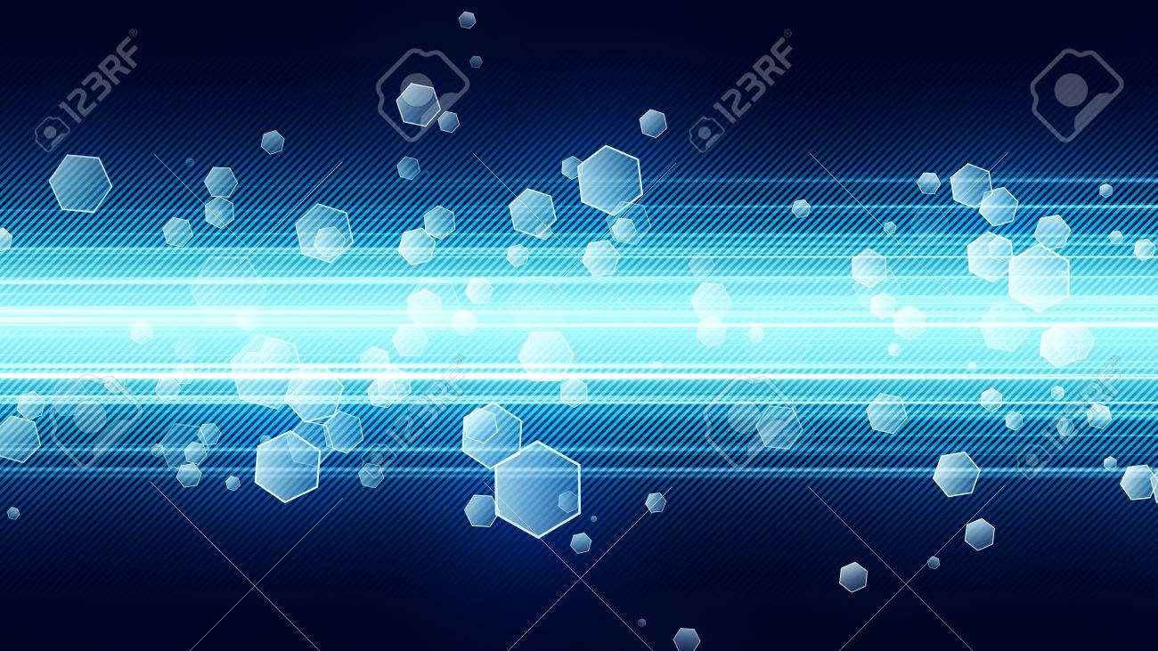 Background image 300 dpi - Background With Green Streaks And Floating Hexagon Particles 8k Ultra Hd Resolution At 300dpi Stock