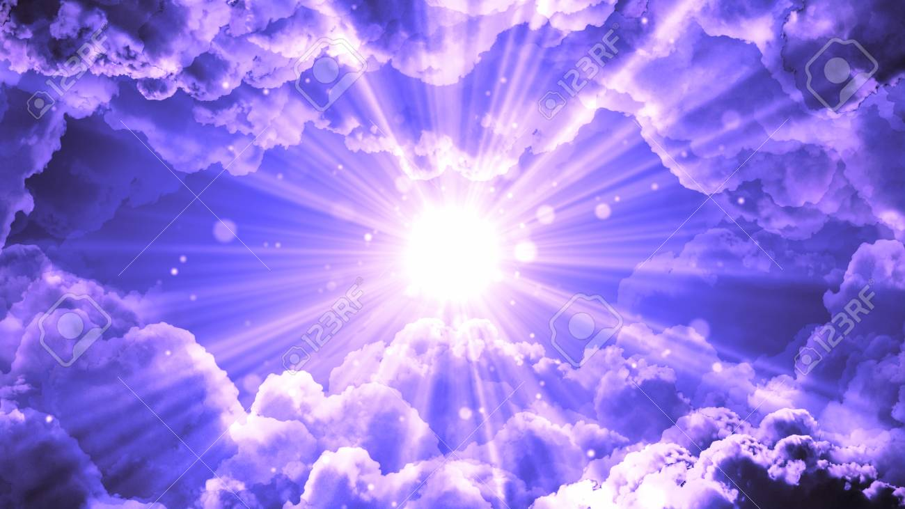 d98f6ee1daba Stock Photo - Worship and Prayer based cinematic clouds and light rays  background useful for divine