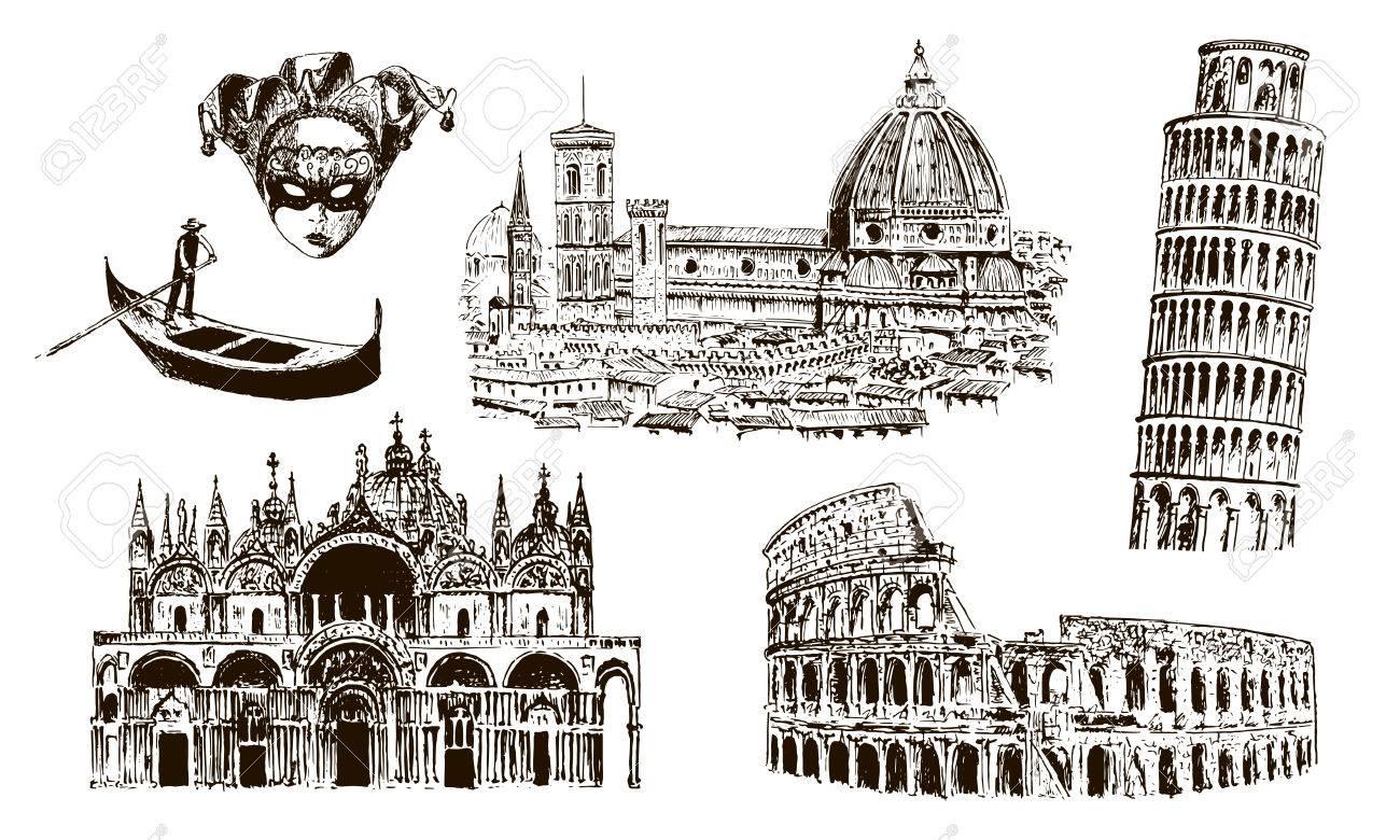 Símbolos Arquitectónicos Italianos: Coliseo, Duomo Santa María Del ...