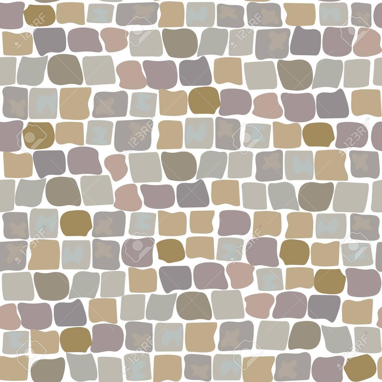 Texture de vecteur de pierre, motif sans soudure au sol de dessin animé  pour la conception de jeu, aménagement intérieur et extérieur de jardinage