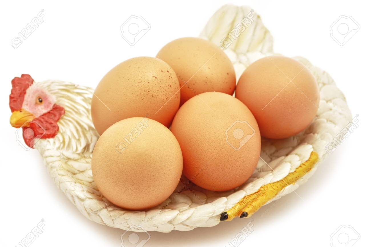 Easter Eggs on hen decorative nest Stock Photo - 12519159