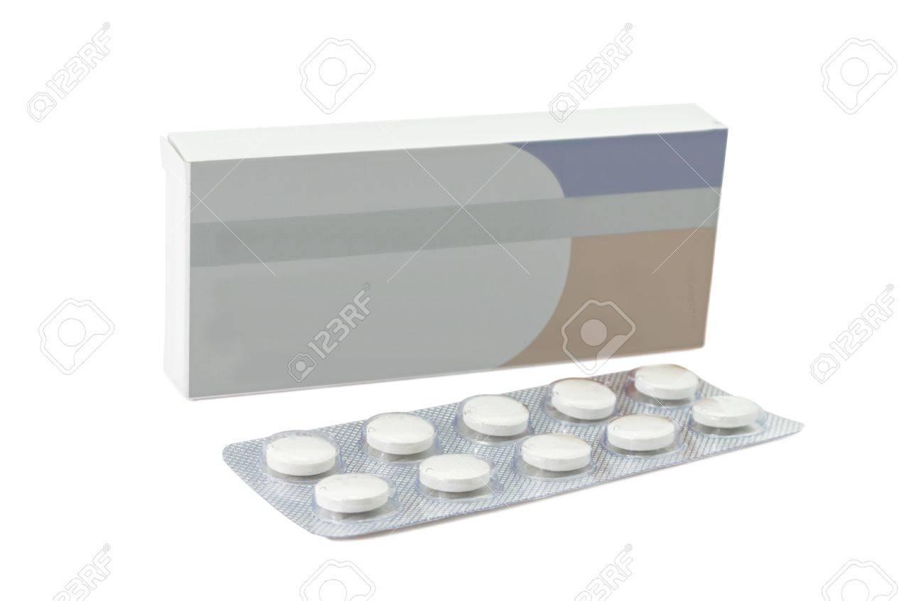 Pills antibiotics tablets on white background Stock Photo - 13159984