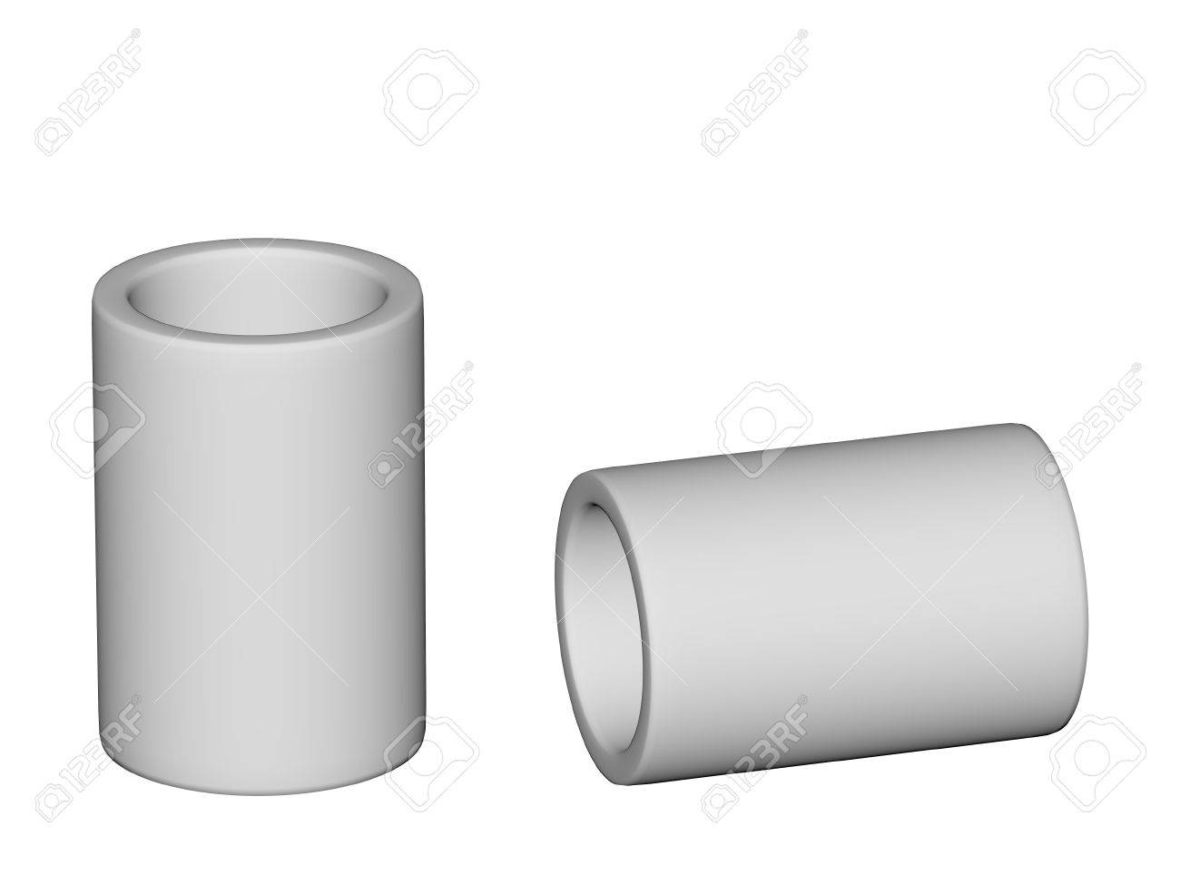 Fitting - PVC connection coupler isolated on white background Used to install plumbing and heating pipes made of polypropylene 3d Stock Photo - 13784195