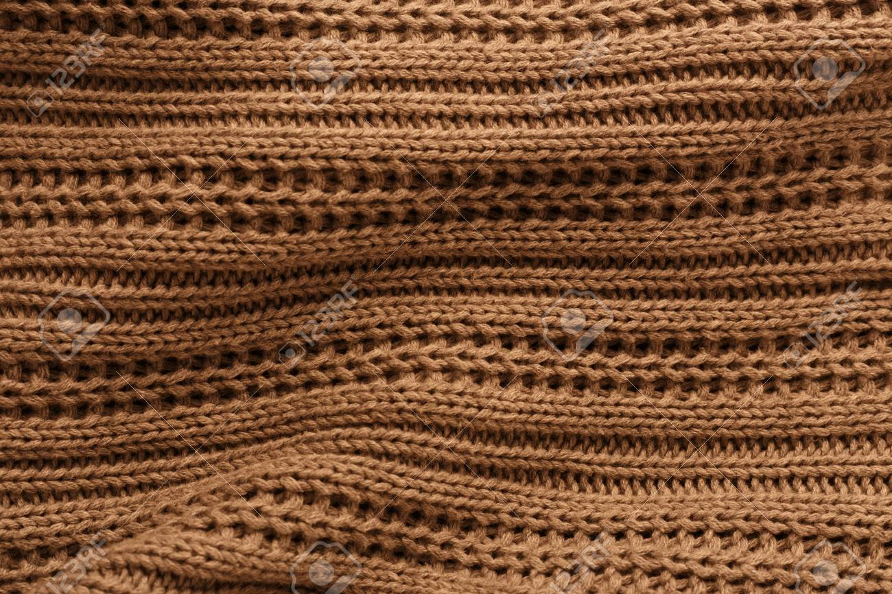 cdbbbb6fe23 Brown Knit Fabric Texture And Background Stock Photo, Picture And ...