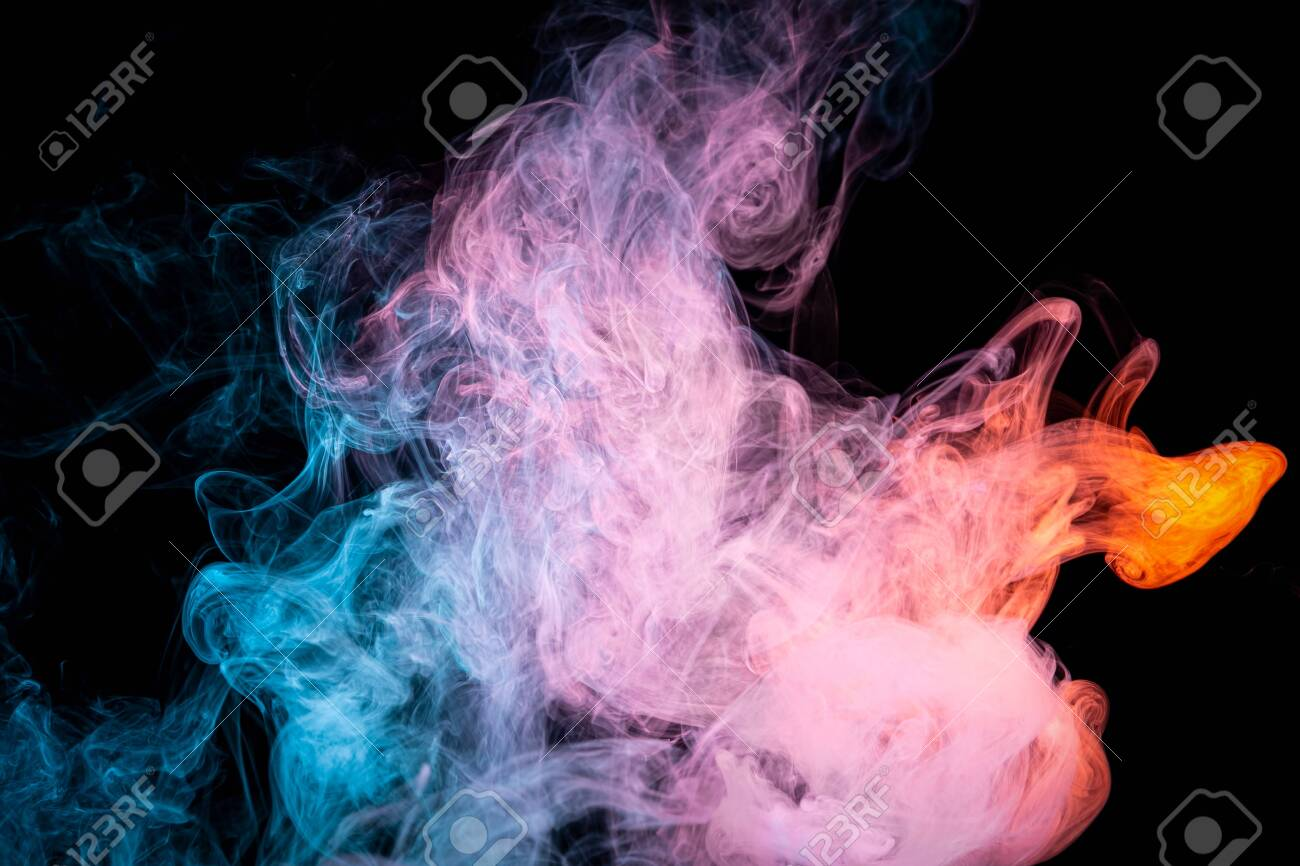 Toxic Movement Of Color Smoke Abstract On Black Background Fire Stock Photo Picture And Royalty Free Image Image 140191146