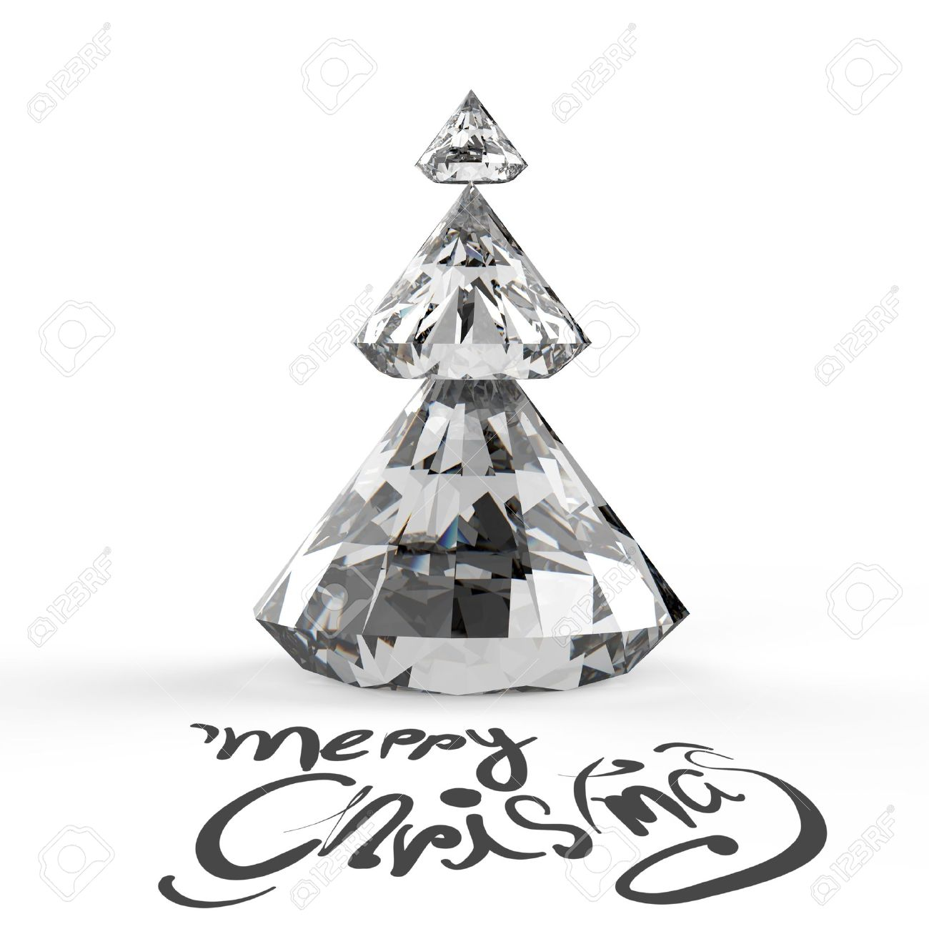 foto de archivo tarjeta de navidad con el rbol de navidad d diamantes