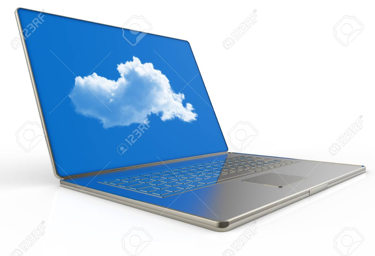 Cloud computing 3d structure as concept Stock Photo - 16712991