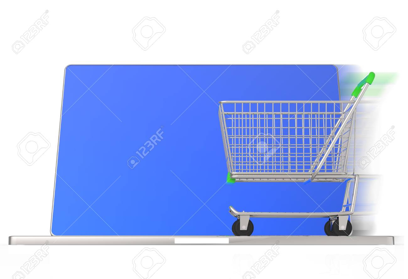 On line shopping concept on white background Stock Photo - 16712893