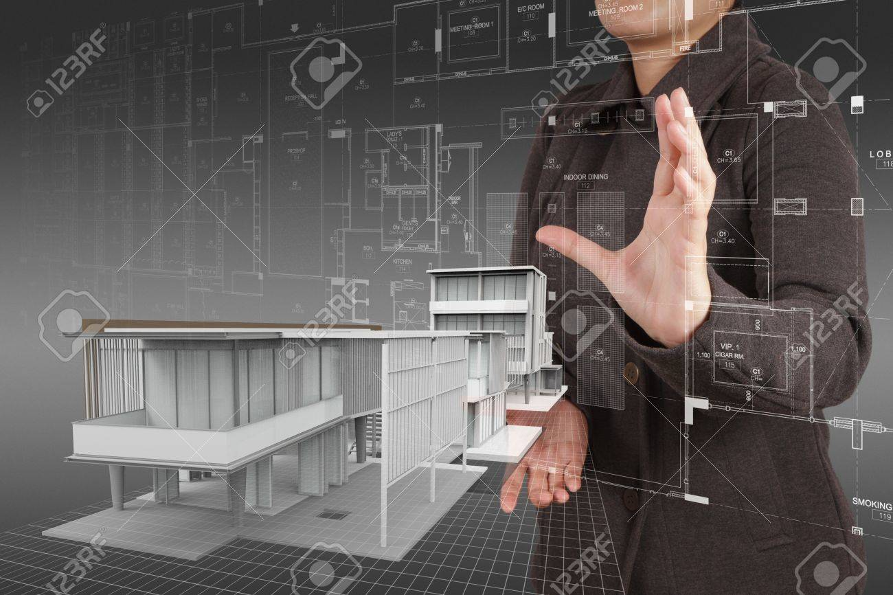 businesswoman hand shows house model as concept Stock Photo - 16713306