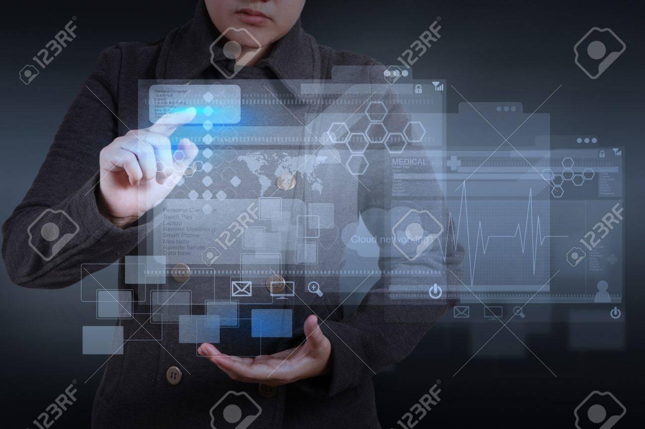 web designer working on modern computer Stock Photo - 17156762