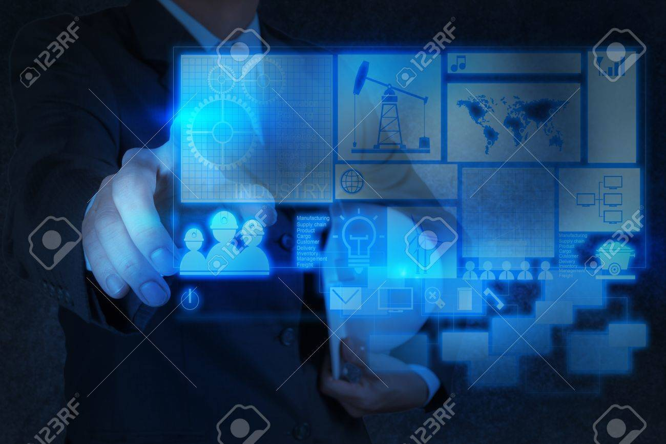 engineer business hand working with new technology as industry concept Stock Photo - 17543060
