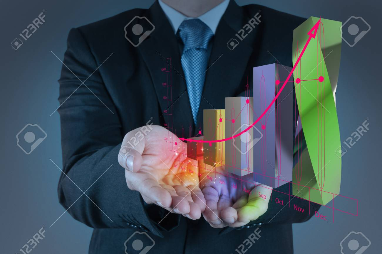 businessman hand working with new modern computer and business strategy as concept Stock Photo - 18237562