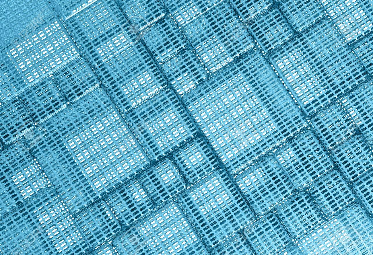 Blue Steel mesh metal plate background or texture Stock Photo - 18237683