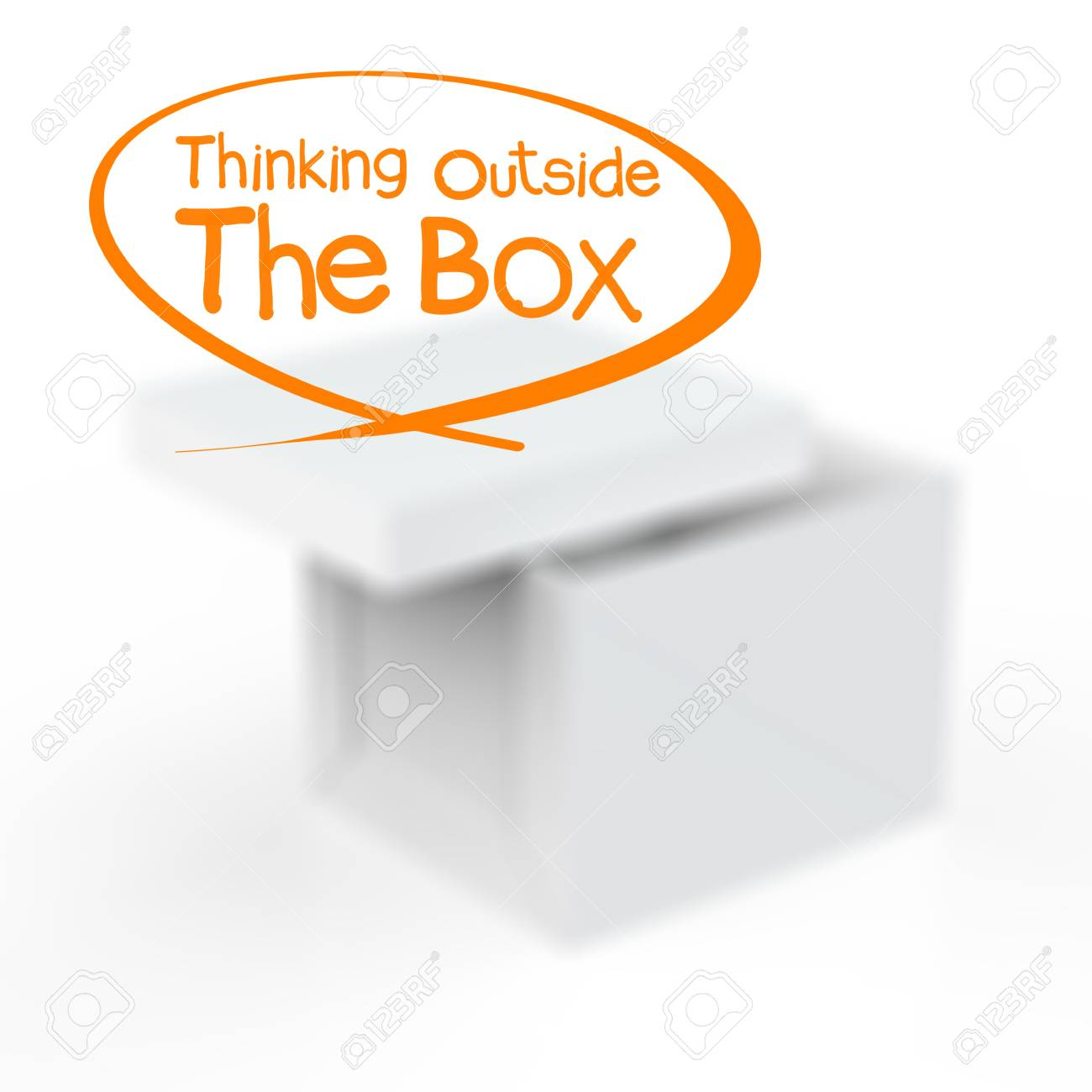thinking outside the box as concept Stock Photo - 18237248
