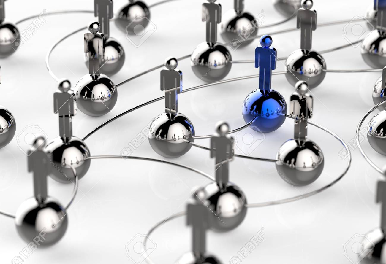 3d stainless human social network and leadership as concept Stock Photo - 18988919